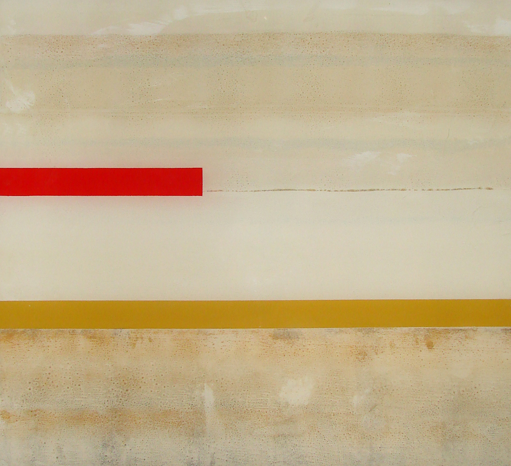 Red Over Yellow Diptych #2