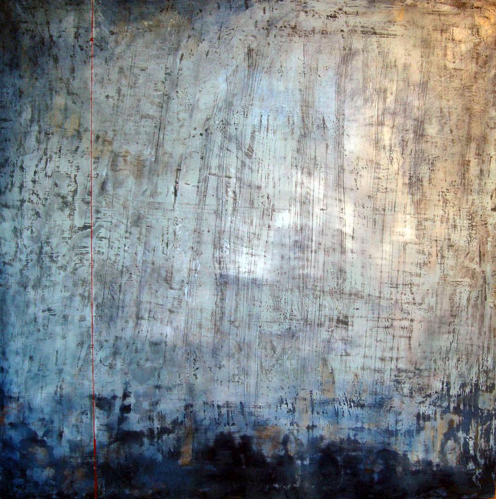 "Sue Gordon, Untitled 7, Encaustic on Panel, 36"" x 36"""
