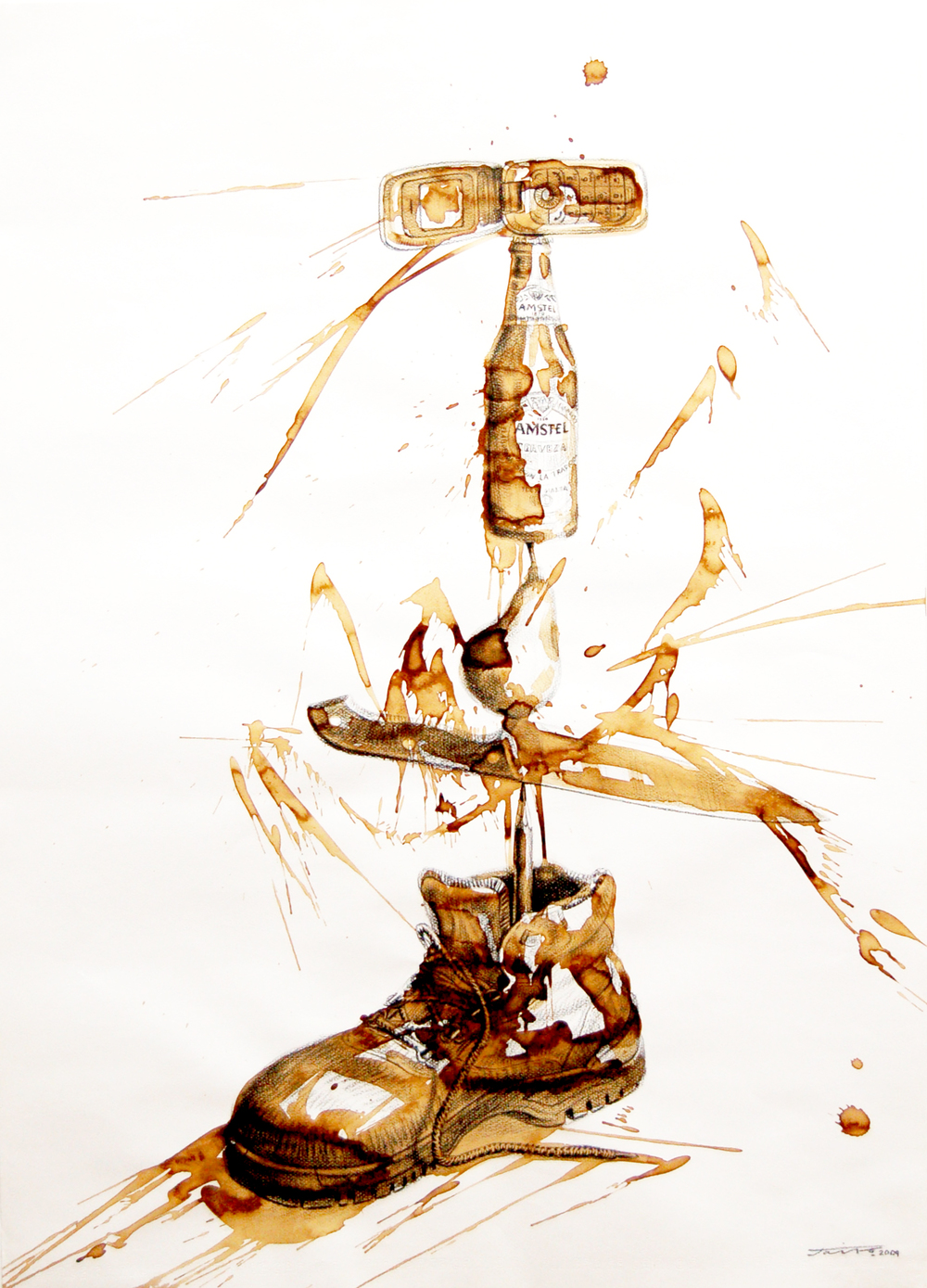 JairoAlfonso,Untitled, Equilibrium Series, Mixed Media on Paper, 2009, 77cm x 55cm