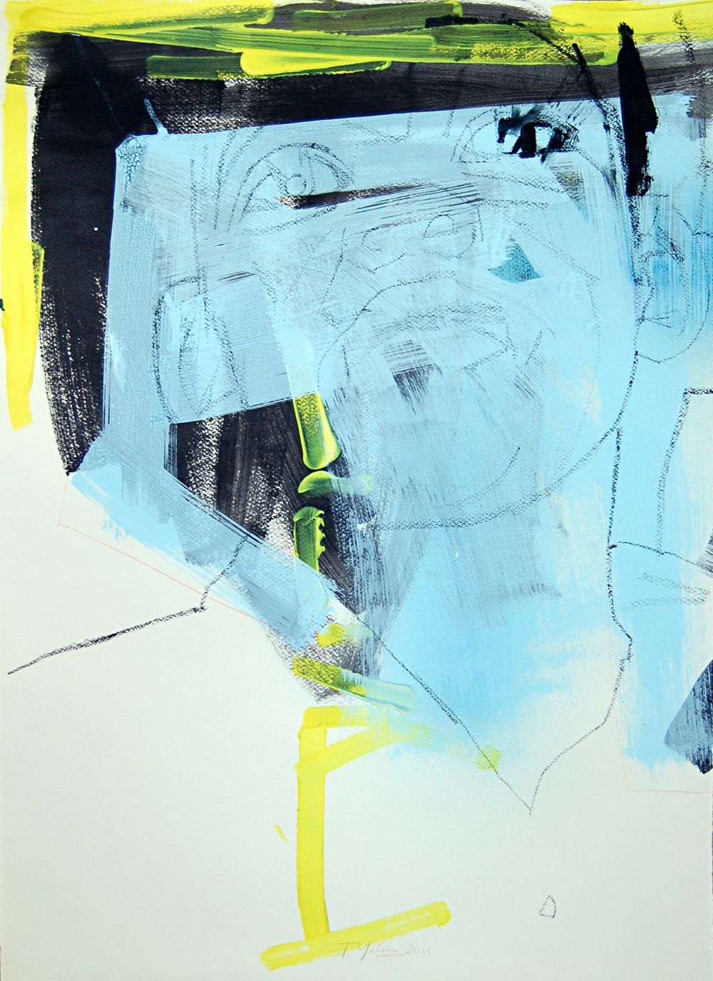 Francisco Nunez, Joselier (Versioń), Mixed media on paper, 52cm x 75cm