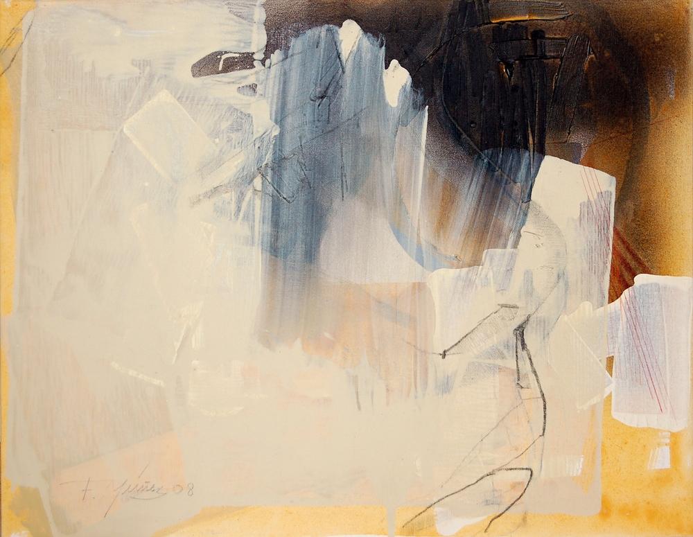 FranciscoNunez,Untitled, Mixed Media on Canvas, 2008, 62 x 48 cm
