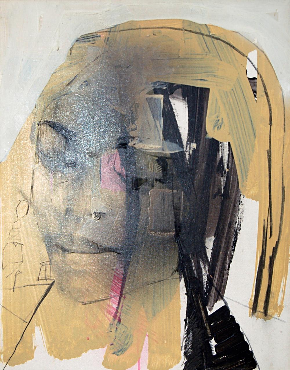 FranciscoNunez,Modelo de Spencer Tone, Mixed Media on Canvas, 2008, 48 x 62cm