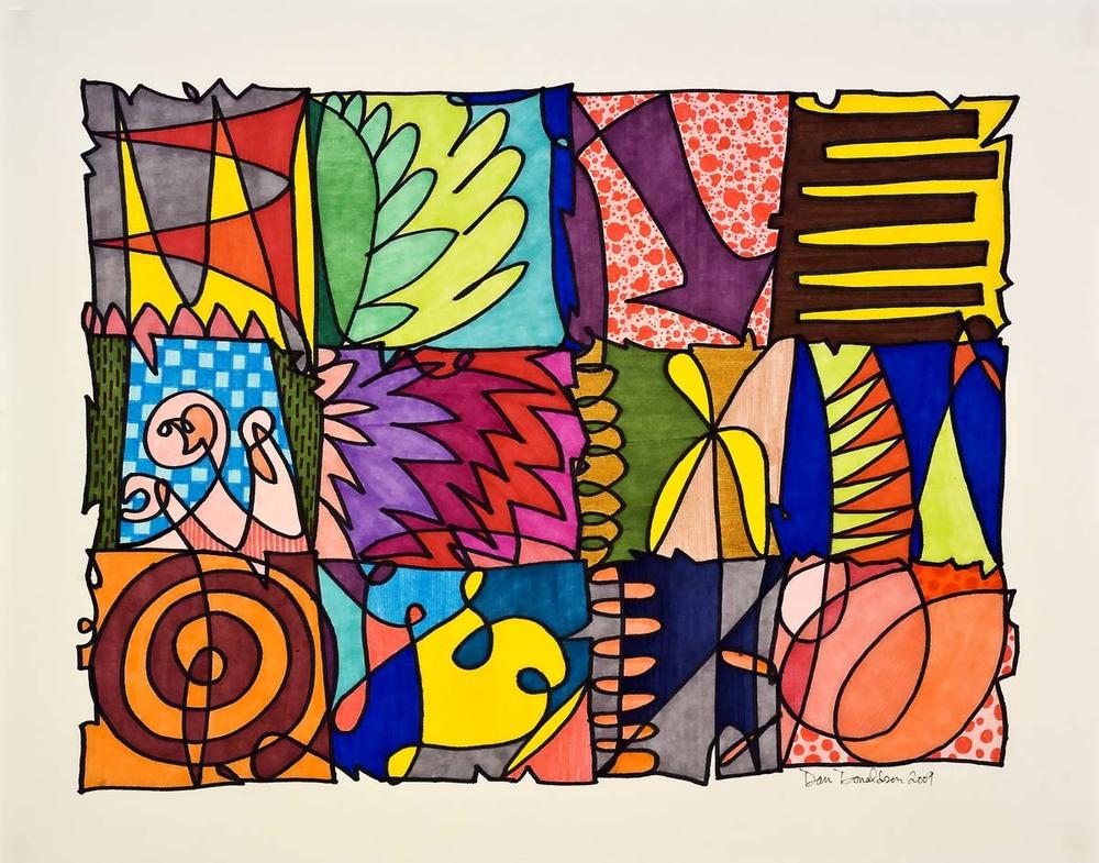 Dan Donaldson, Scribble Collage 6