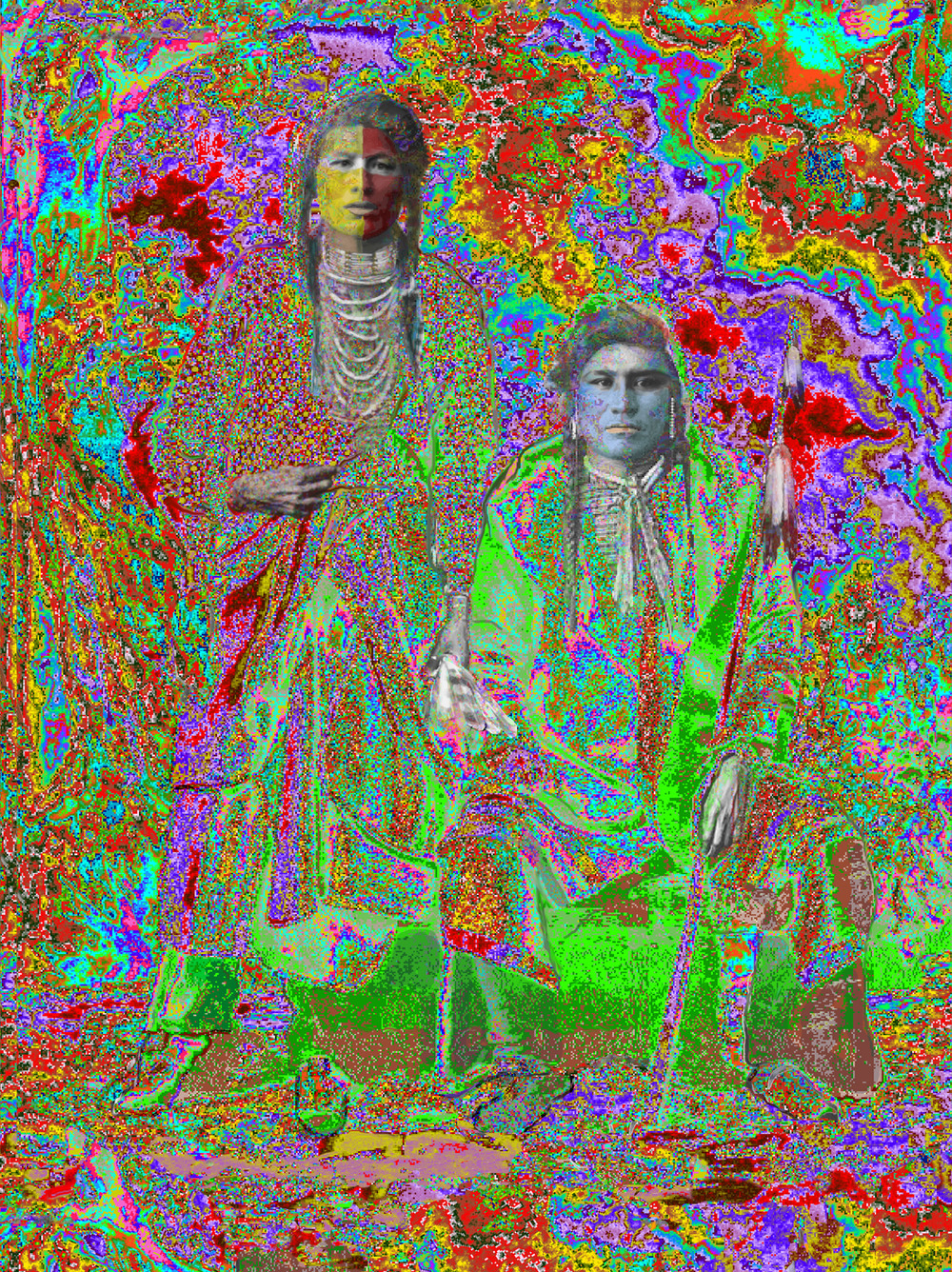 "Buffy Sainte-Marie, Elder Brothers, Ilfordchrome (cibachrome) photograph, 73.5"" x 90"""