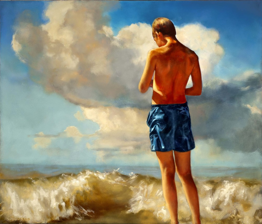 "CLICK TO ENLARGE Wave, oil on canvas, 2012, 36"" x 42"""