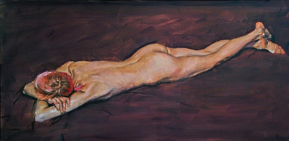 Robert Sim, Purple Nude, Oil on Canvas, 2014