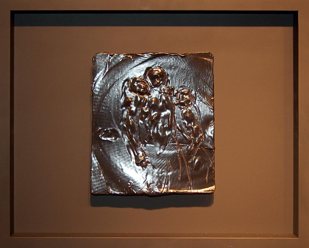 """Pieta, Ceramic, 2013, 9"""" x 9"""""""