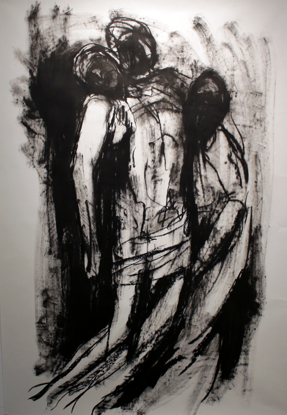 "Figures #1, Oil Bar on Paper, 2013, 42"" x 60"""