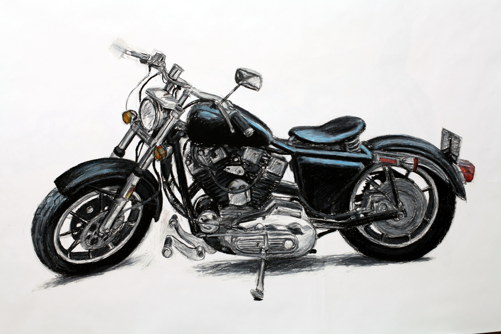 "The Old Heart Breaker, Oil Pastel, 60"" x 40"""