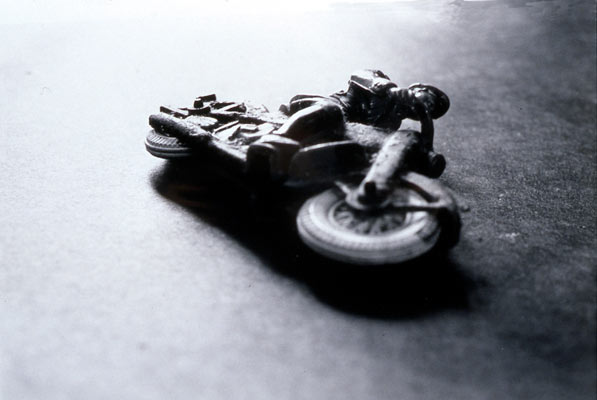 "Motorcycle Cop, Foul Play Series, Gelatin Silver Print, 2002, 18"" x 24"""
