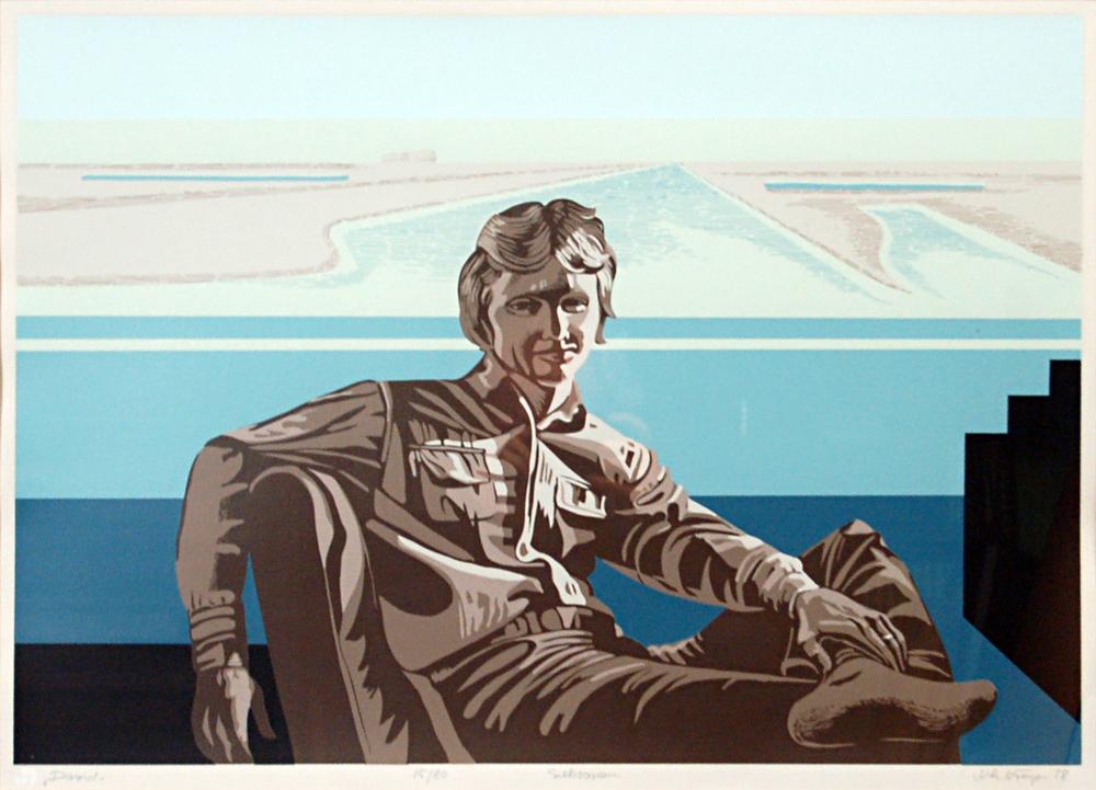 "David, 15of80, 1978, Silkscreen, 27"" x 20"""