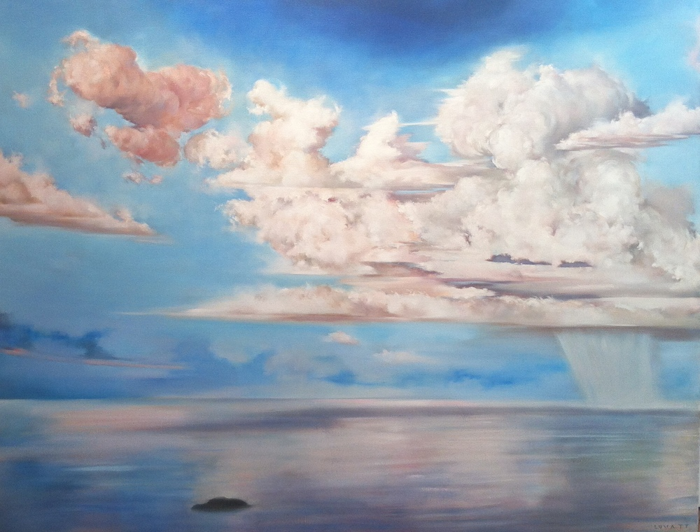 "Willow Island, Oil on Canvas, 2011, 42"" x 48"", SOLD"