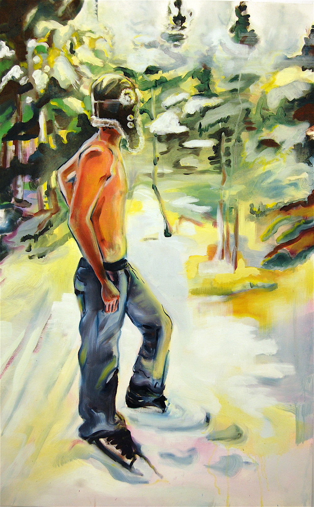 "Nathan, 24"" x 48"", Oil on Canvas"