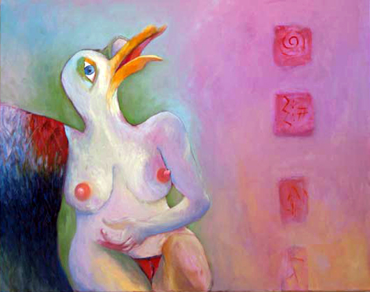 "Innoncence Lost, Oil on canvas, 2011, 24"" x 30"""