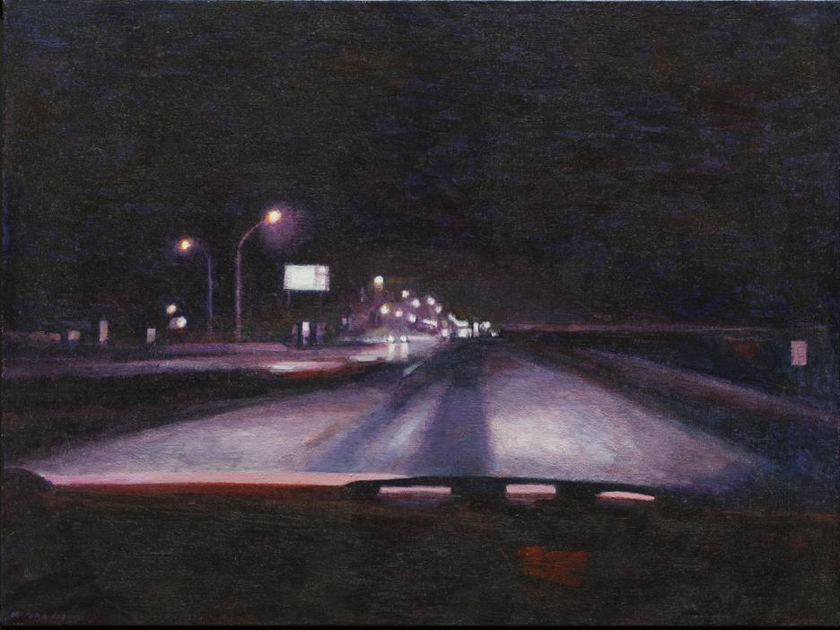 """Edge of the City, Acrylic on Canvas, 2000, 25.5"""" x 19.5"""""""