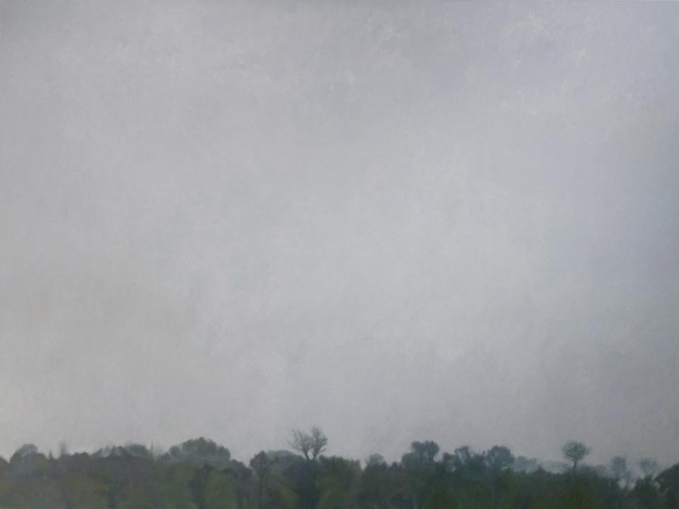 "Treeline: Afternoon Haze, Oil on Canvas, 2009, 80"" x 60"""