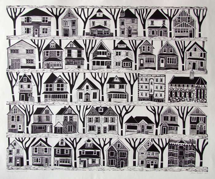 Winnipeg Neighbourhood II,  Polymer phogogravure,  80cm x 100cm, SOLD OUT