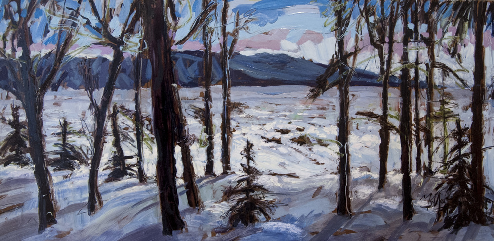 "Sparkle of Light, Oil on board, 48"" x 24"", SOLD"