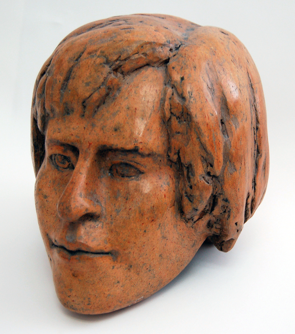 "Head 1, ca1980,  Ceramic, 8"" x 7"" x 9"""