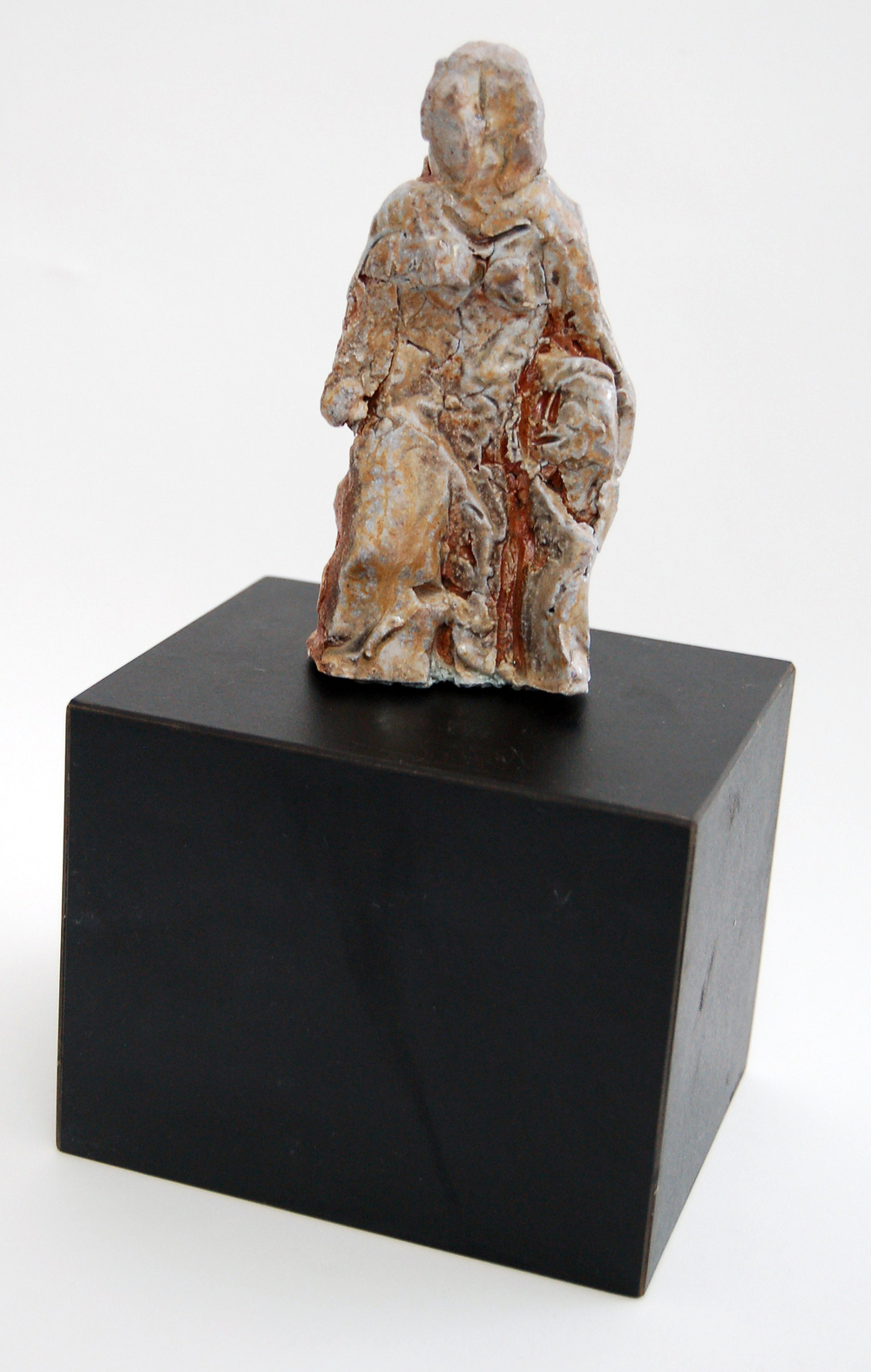 "Standing Woman, ca1980, Ceramic, 3"" x 5.25"" x 2.5"""