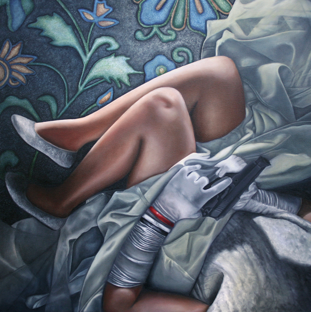"Sleeping Beauty, Oil on canvas, 45"" x 45"", SOLD"