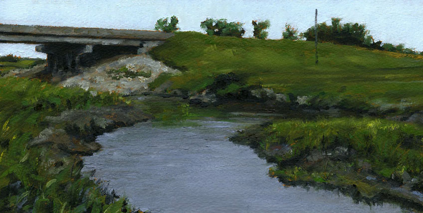 "Sturgeon Creek, Oil on Paper, 12"" x 6"""