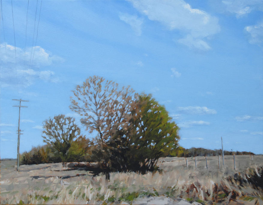 "Blue Sky, Oil on Canvas, 2012, 28"" x 22"""