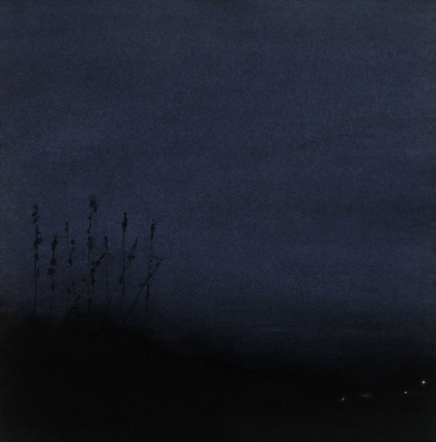 "Night Lights No. 1, Oil on Paper, 22"" x 22"""