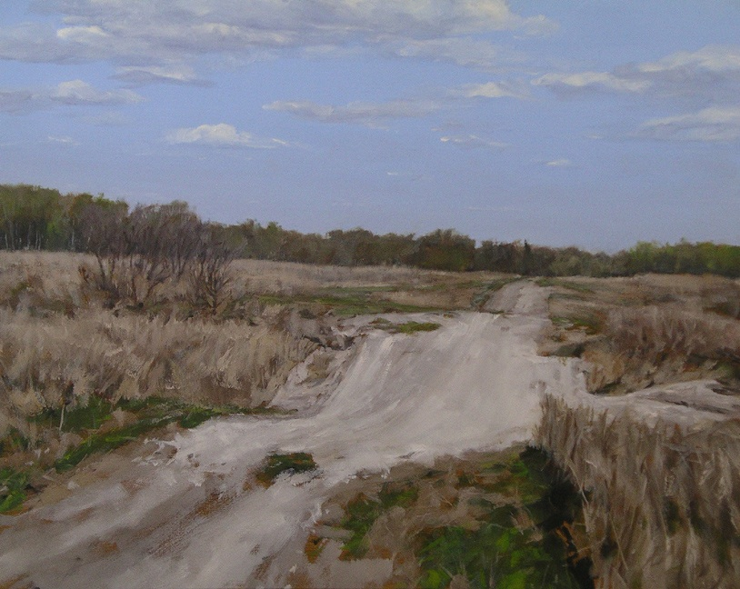 "White Road, Oil on Canvas, 30"" x 24"""