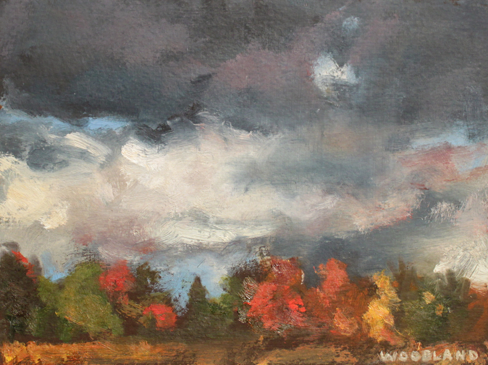 "October Landscape, Oil on Artboard, 2009, 6.5"" x 7"""
