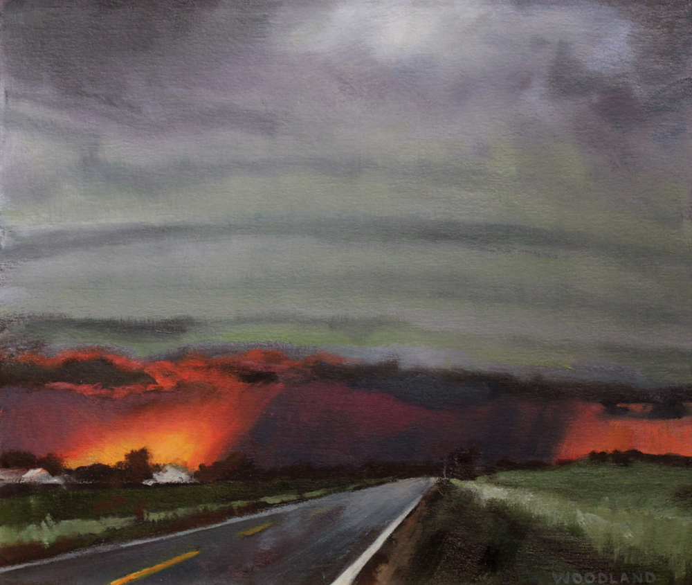 "Gust Front, Oil on Artboard, 2011, 8"" x 10"""