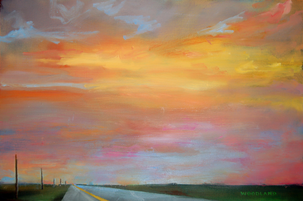 "Highway 4, Oil on Artboard, 17"" x 11"", 2013 SOLD"