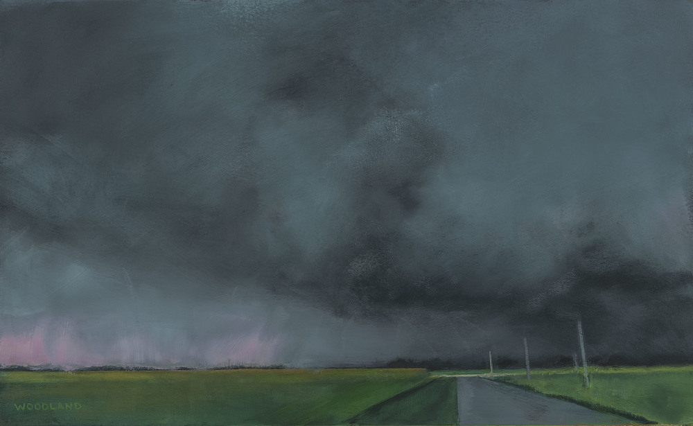 "Highway 5, oil on artboard, 2012, 18"" x 10.75"""