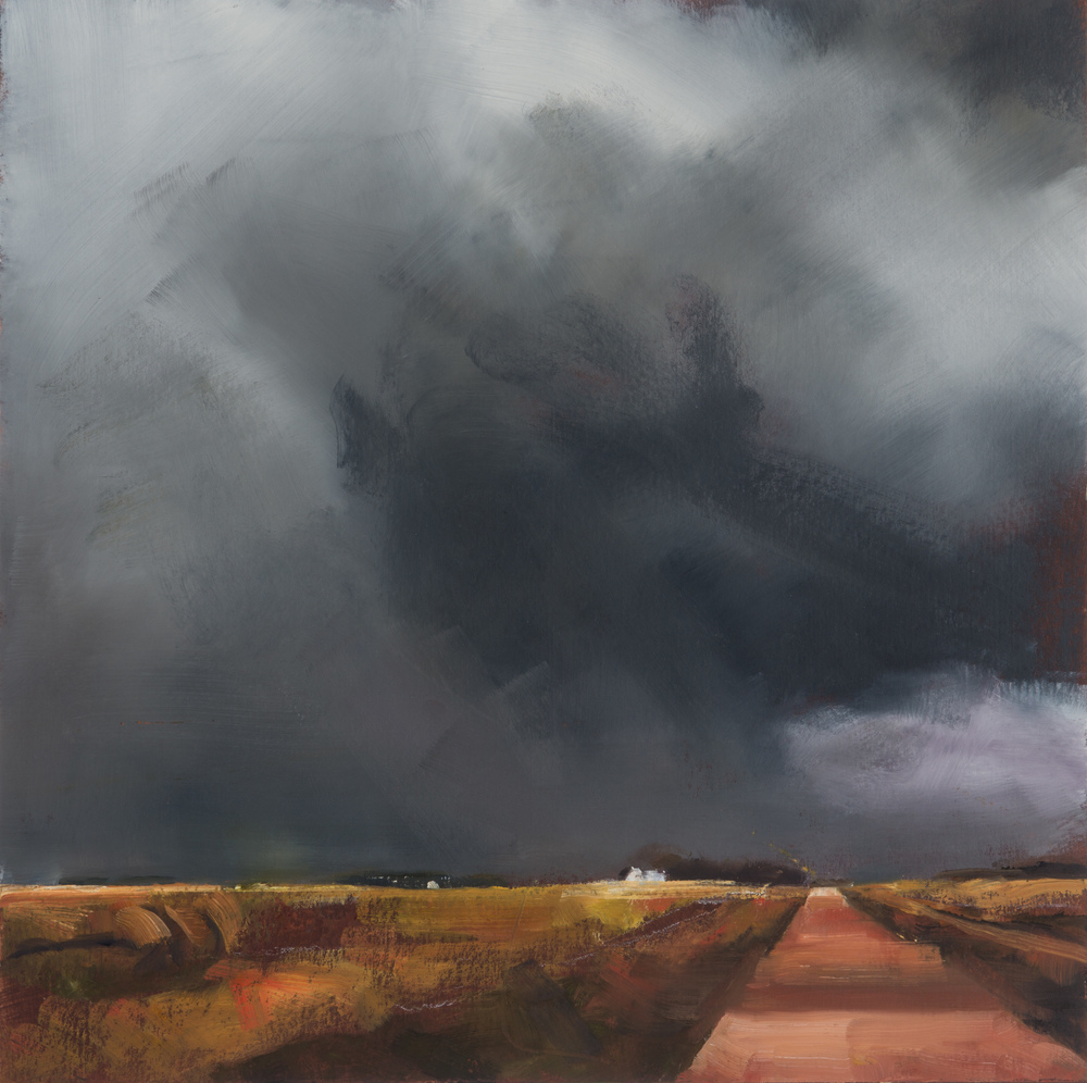 BW-046, Study for Grey Sky, 2014, oil on artboard, 14x14.jpg