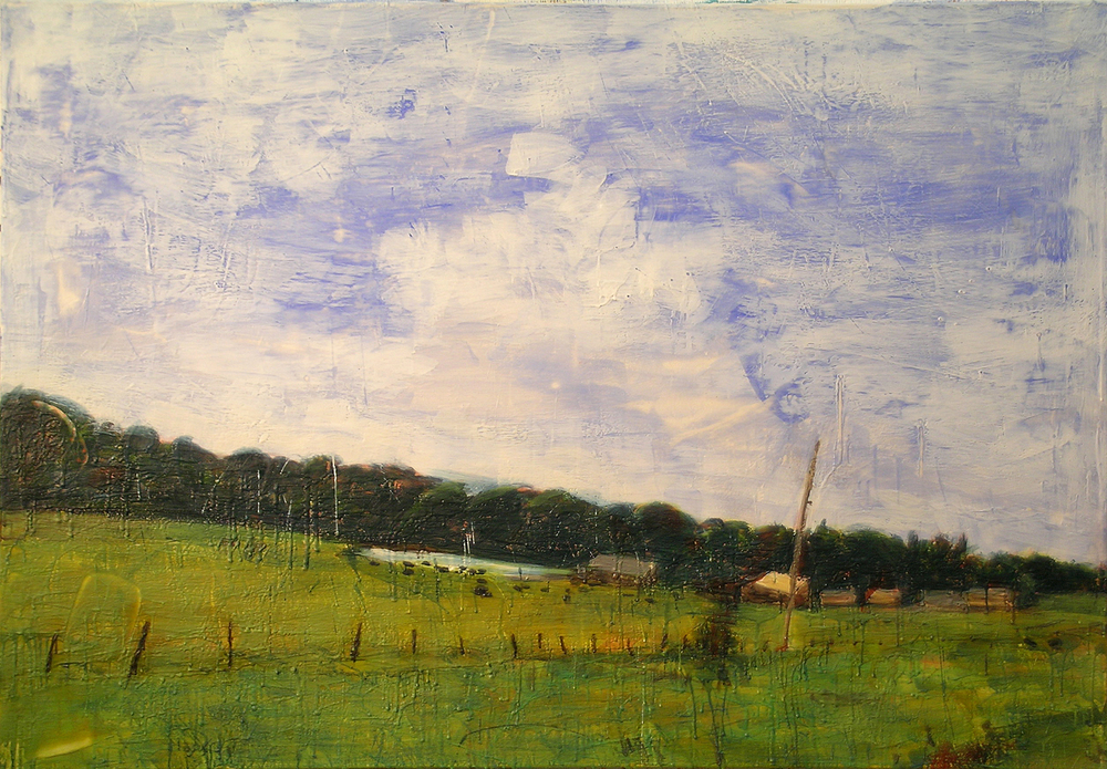 The Jetty Ranch, Spirit Lake, Oil, Pigment, beeswax, Microcrystalline Wax and Dammar Resin on Canvas, 72 x 50