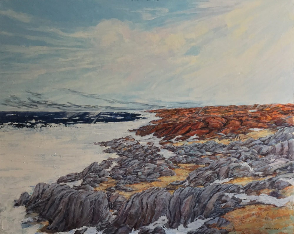 "Andrew Beck's Ice Break-Up Hudson Bay Neaer Churchill, Acrylic on Canvas, 2014, 60"" X 48"". Click here for more from Andrew."