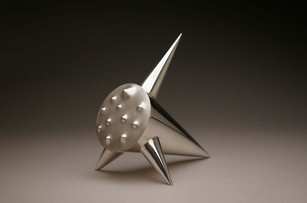Sonja Rosenberg, Teapot, Sterling Silver, hand forged and fabricated
