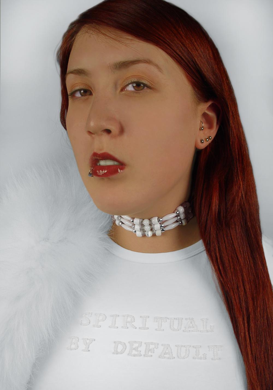 """KCA-003, KC Adams, Cyborg Hybrid, Spiritual by Default, Yvonne, 2005, digital print, 25"""" x 33"""", $2,000"""