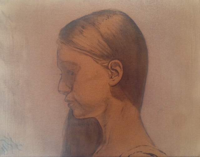"CW-087, Hannah, Oil on Canvas, 11"" x 14"", $1,800"