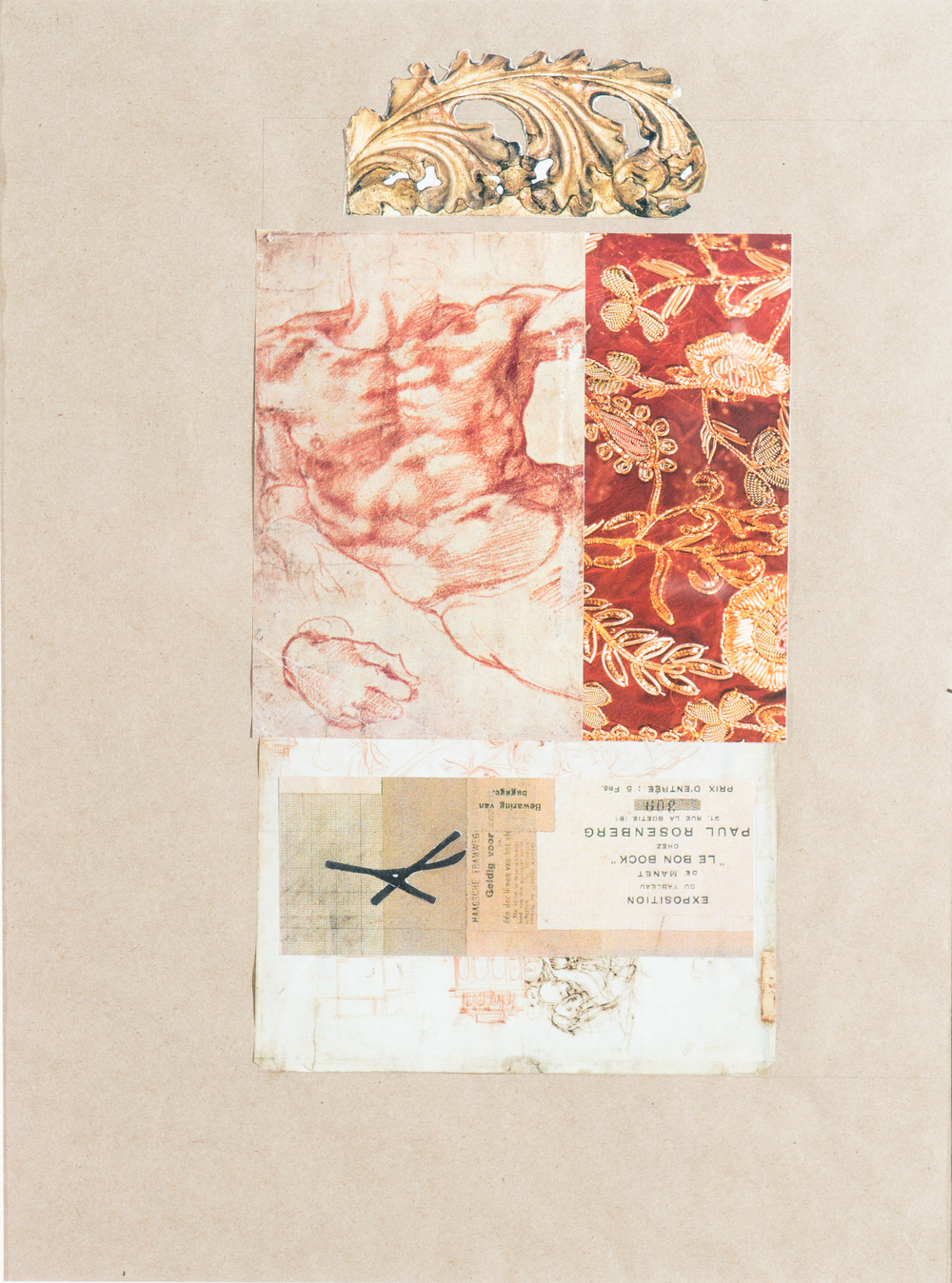 TL-048, Proximity (four letters about love), collage, 19 x 23, $575