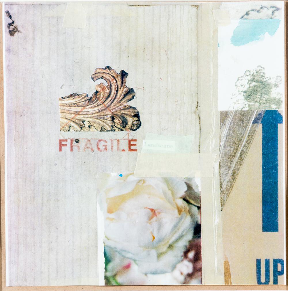 TL-054, Tom Lovatt, Fragile Landscape, 2015, Collage, 20.625 x 20.625, $475