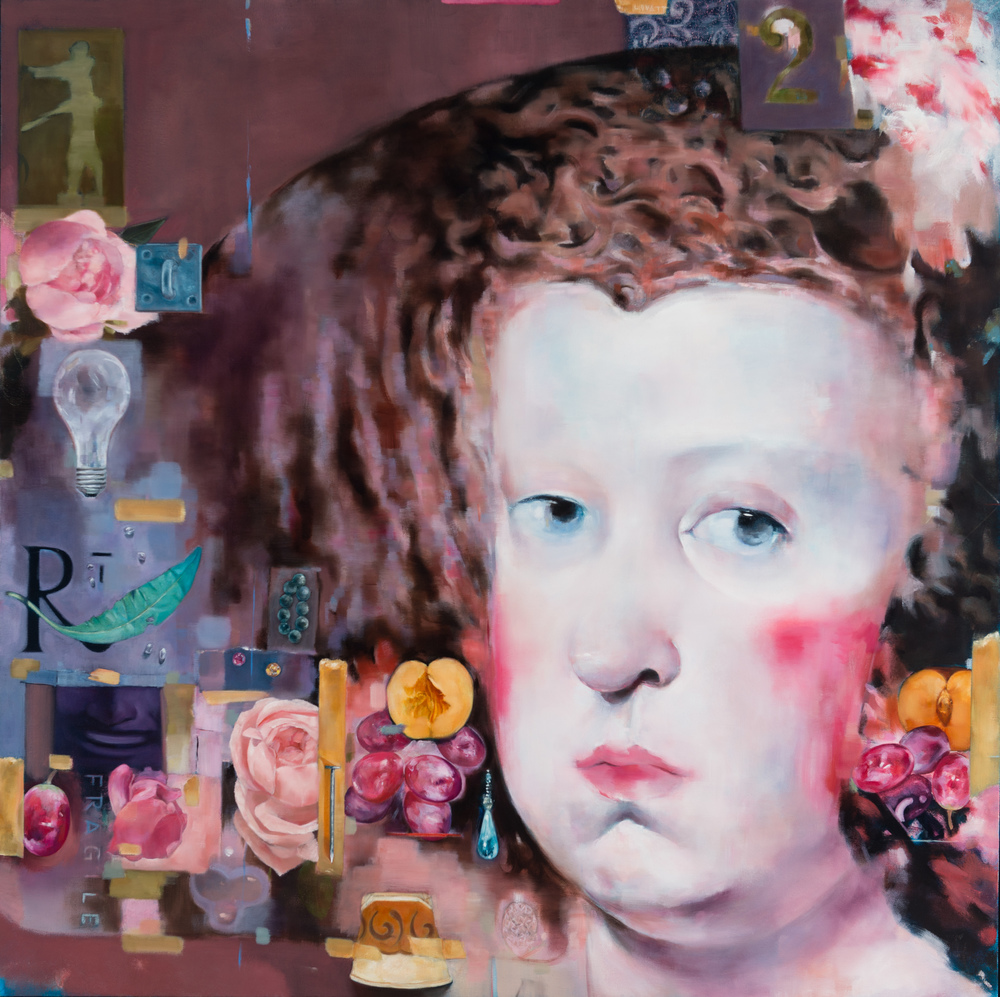 TL-058, Junkyard Queen, Oil on Canvas, 2015, 42 x 42, $5,350