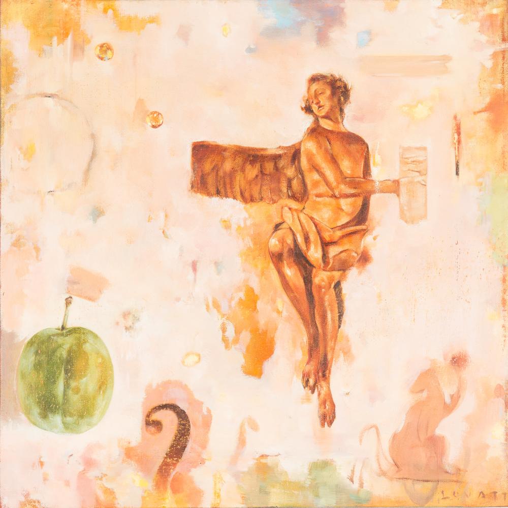 TL-063-Falling Angel, 2015, 18x18, $1,250