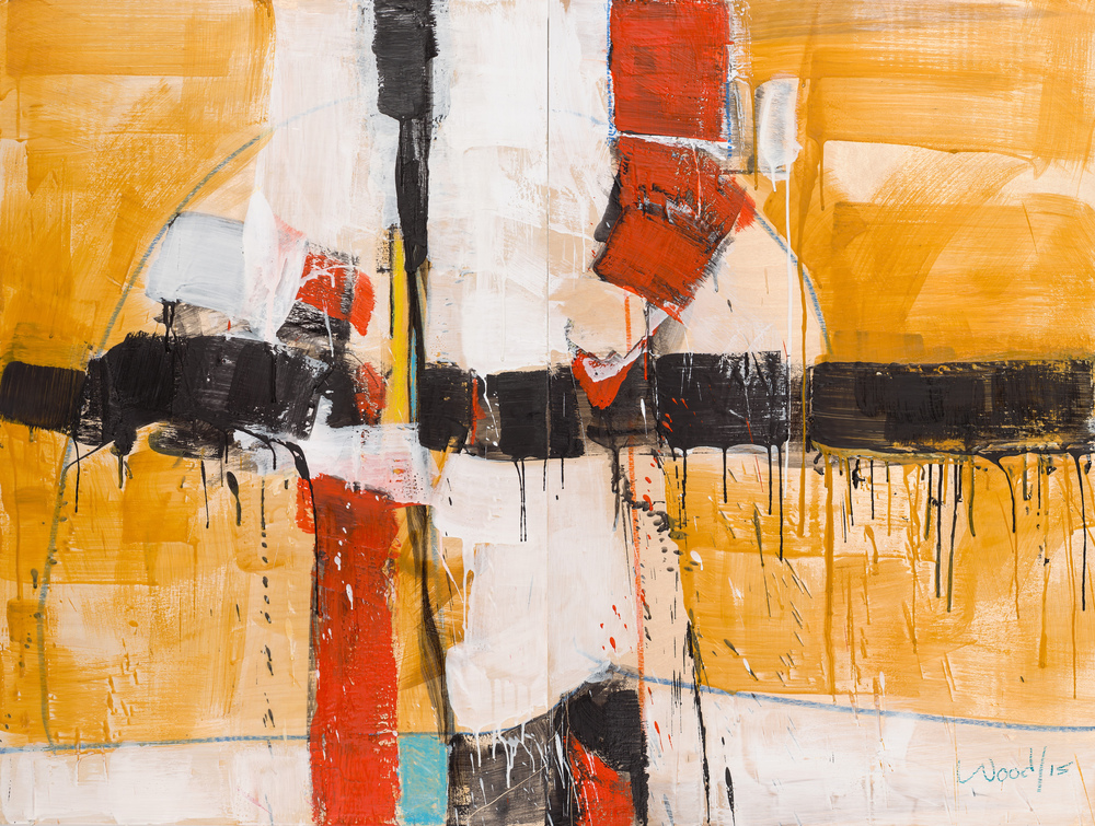 KW-061, Keith Wood, This Time 1, Encaustic on Panel, 2015, 48 x 36, $3,750