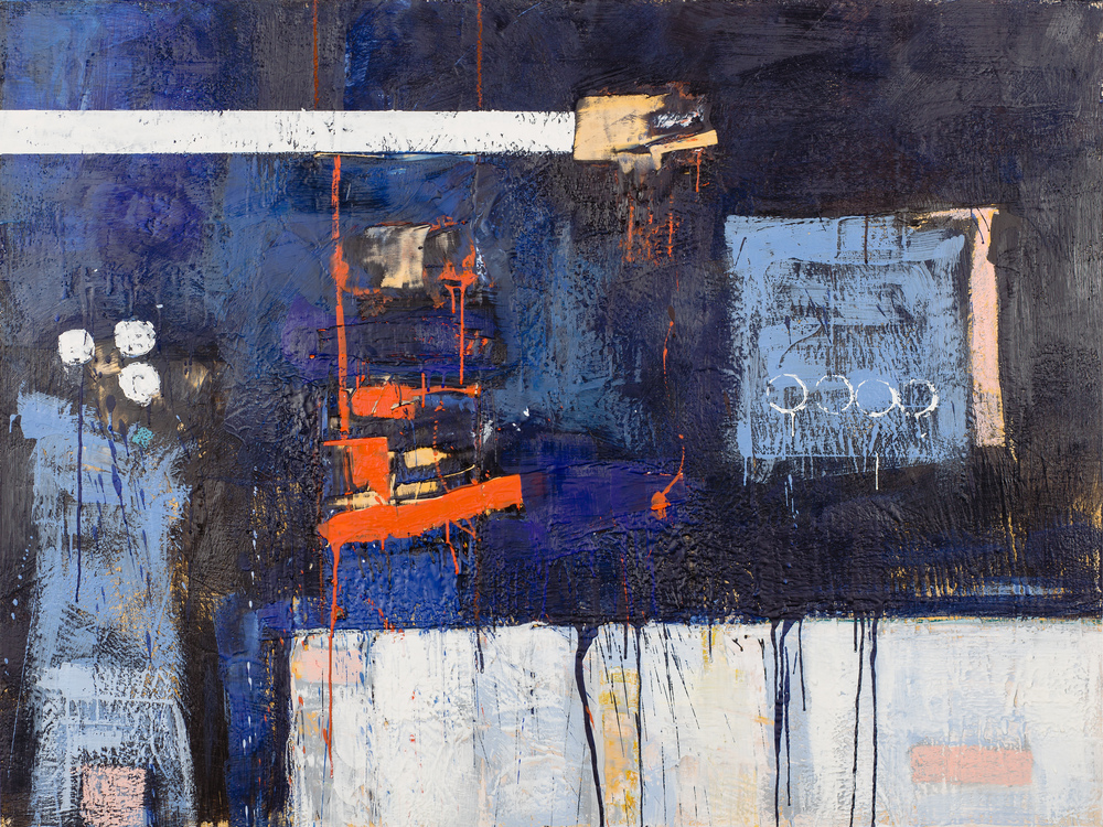 KW-063, Keith Wood, This Time 3, 2015, Encaustic on Panel, 48 x 36, $3,750