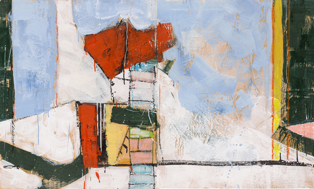 KW-065, Keith Wood, This Time 5 , 2015, Encaustic on Panel, 40 x 24, $1,950