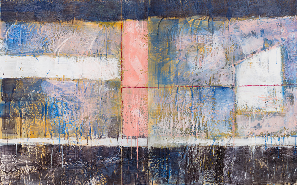 KW-070, Keith Wood, This Time 10, Encaustic on Panel, 2015, 48x30, $2,750