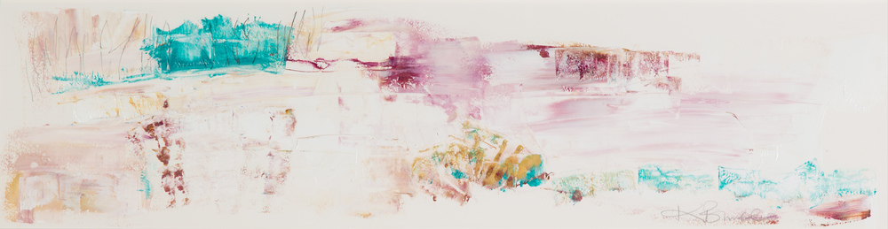 KB-063, Katharine Bruce, Cool Desert, Acrylic on Paper, 2015, 45 x 11, $2,400