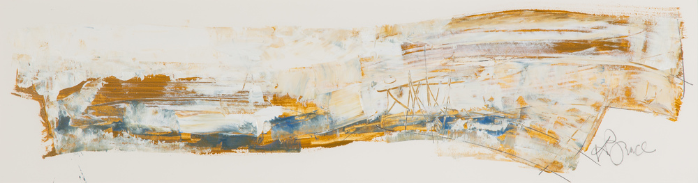 KB-066, Shallow water, Acrylic on Paper, 2015, 44 x 12, $2,450