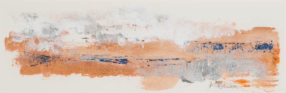 KB-074, Katharine Bruce, Changing Seasons 1, 2015, Acrylic on Paper, 22x7, $1,200